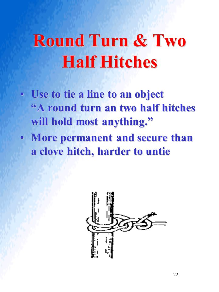 Round Turn & Two Half Hitches