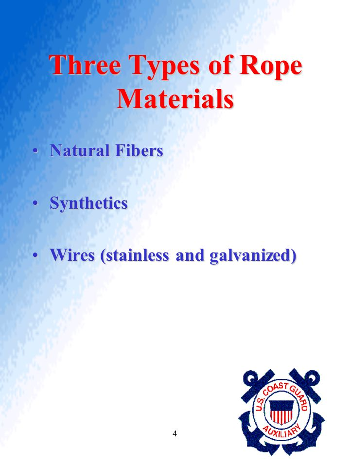 Three Types of Rope Materials