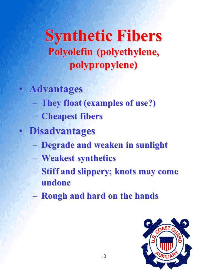 Synthetic Fibers Polyolefin (polyethylene, polypropylene)
