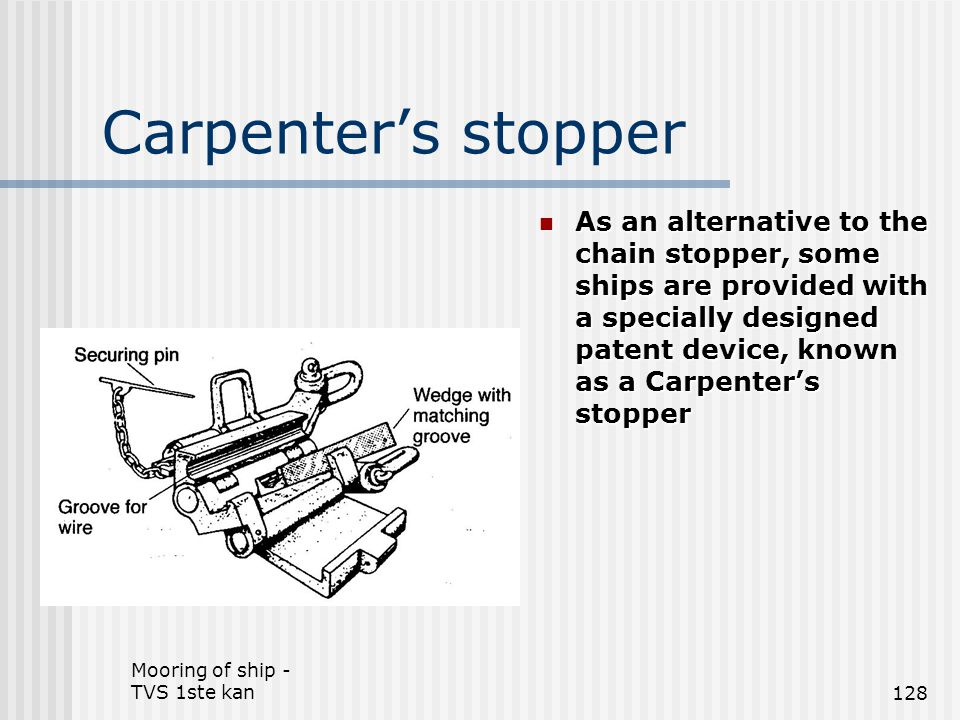Carpenter's stopper