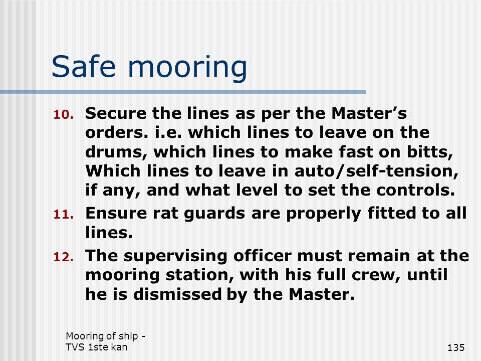 Safe mooring