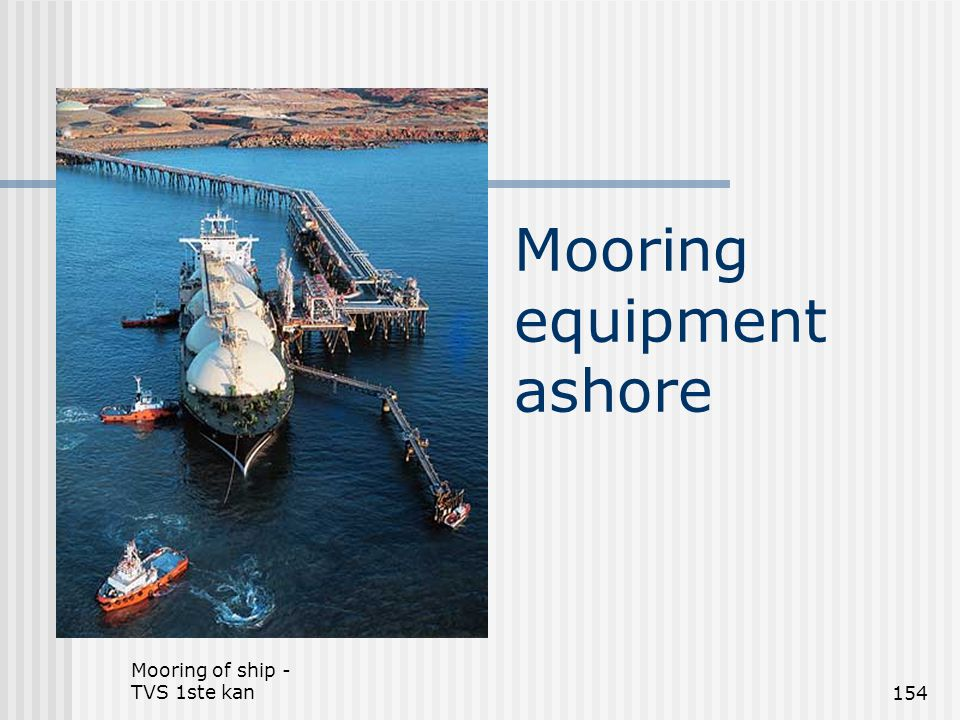 Mooring equipment ashore