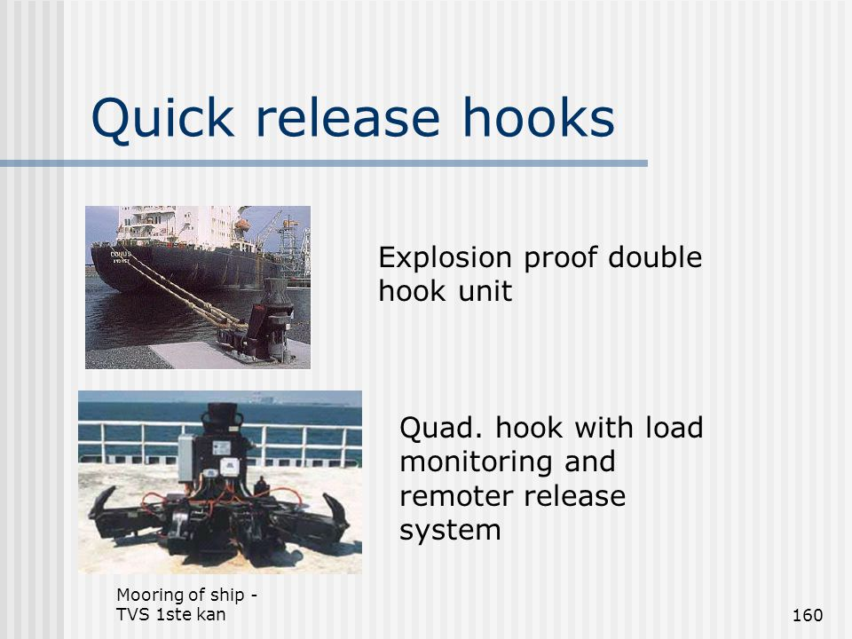 Quick release hooks Explosion proof double hook unit