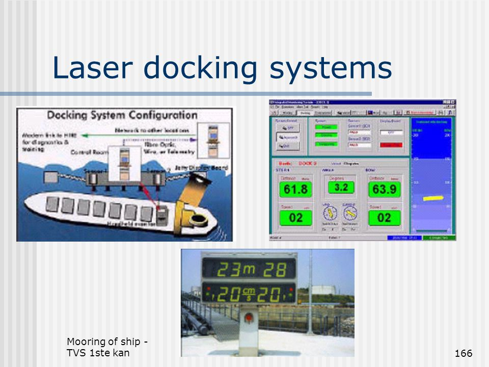 Laser docking systems Mooring of ship - TVS 1ste kan
