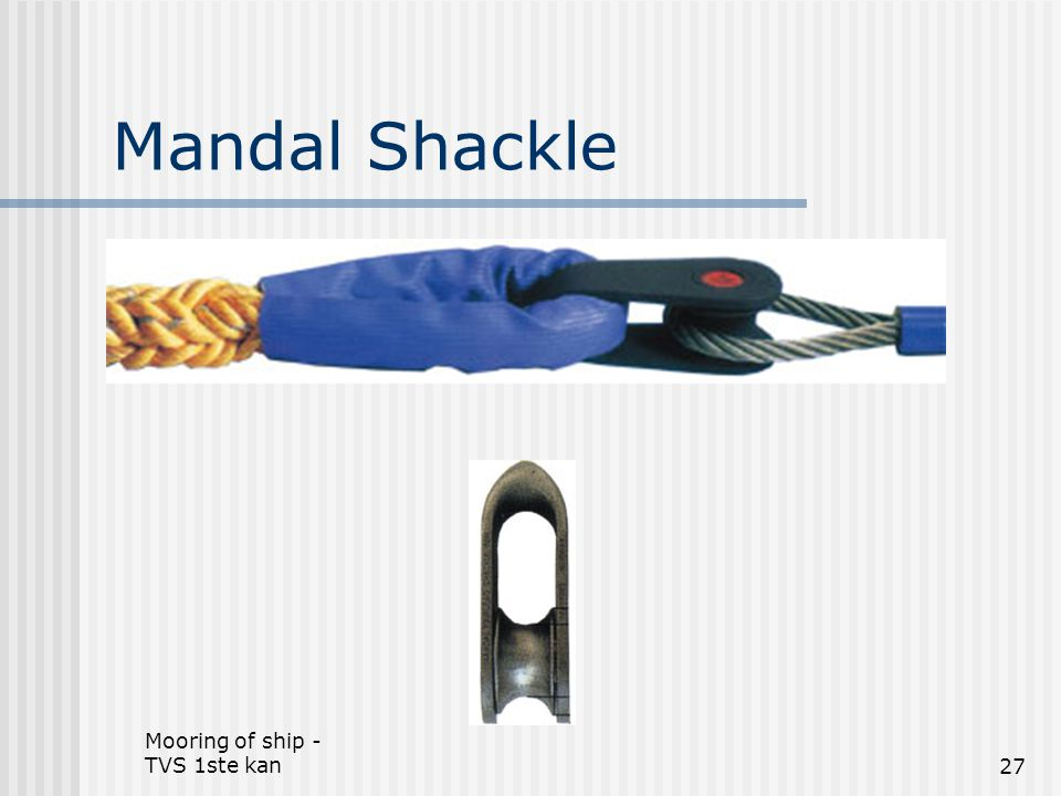 Mandal Shackle Mooring of ship - TVS 1ste kan