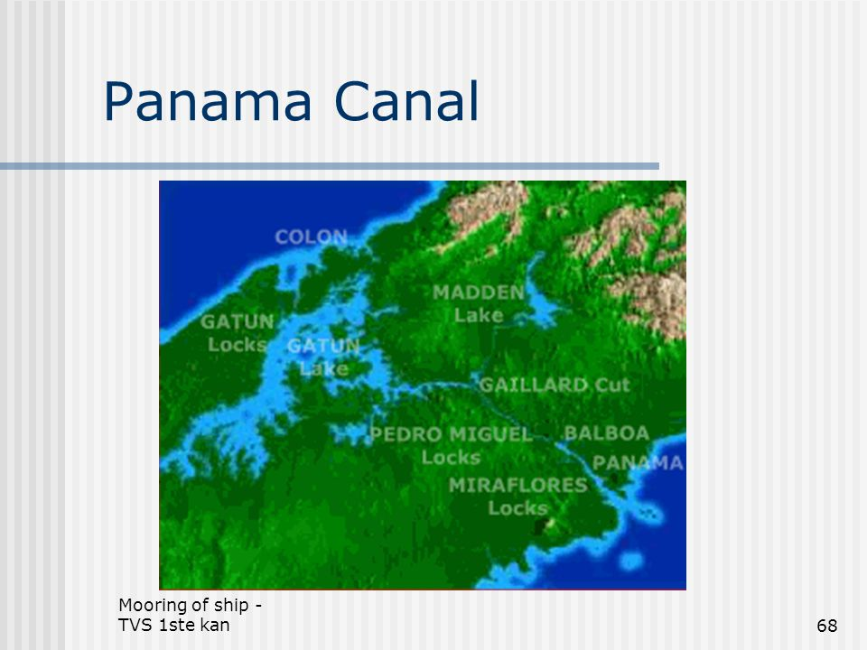 Panama Canal Mooring of ship - TVS 1ste kan
