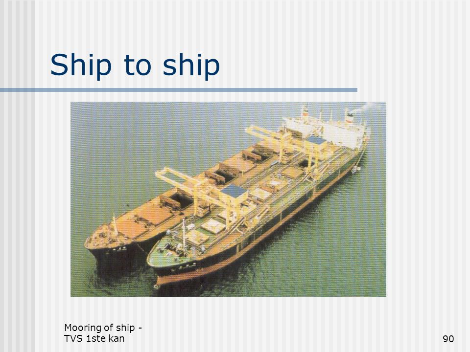 Ship to ship Mooring of ship - TVS 1ste kan