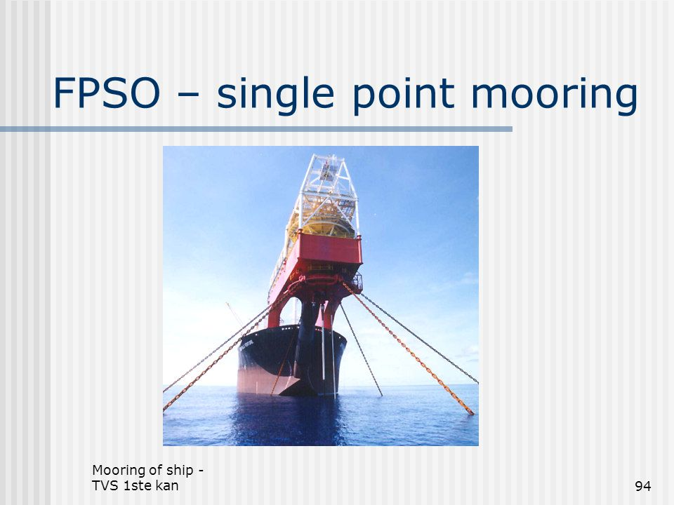 FPSO – single point mooring