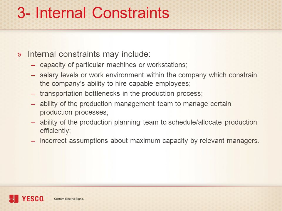 3- Internal Constraints