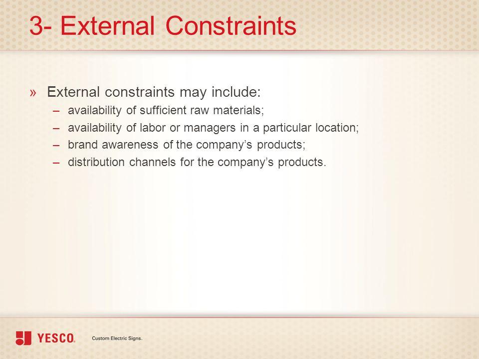 3- External Constraints