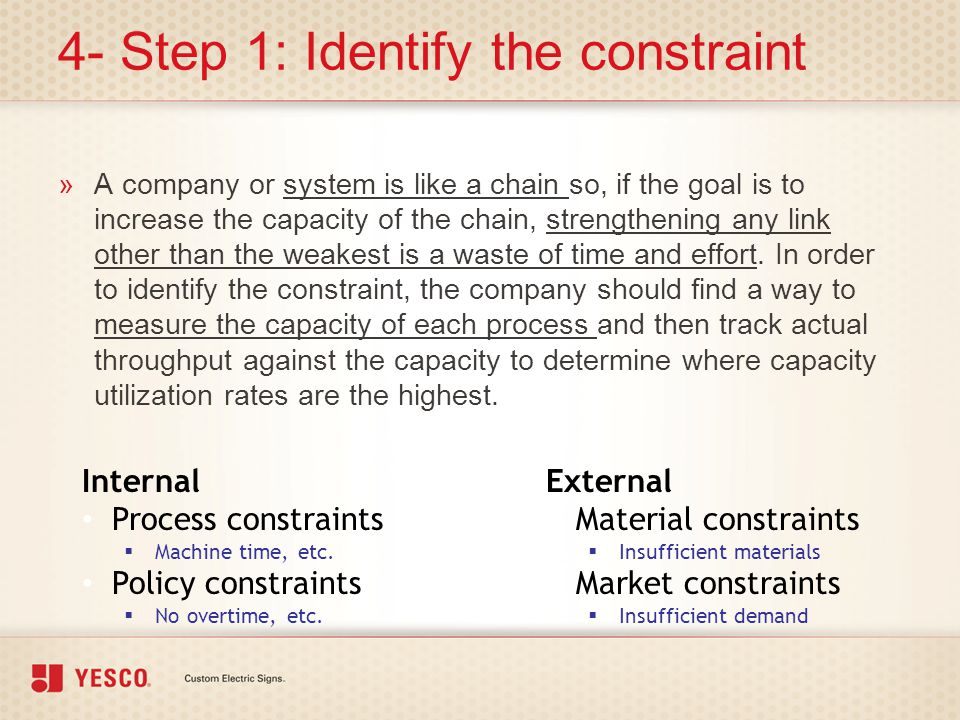 4- Step 1: Identify the constraint
