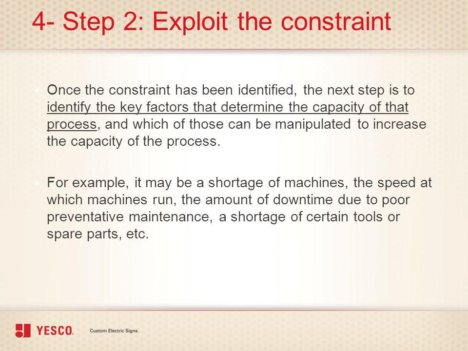 4- Step 2: Exploit the constraint