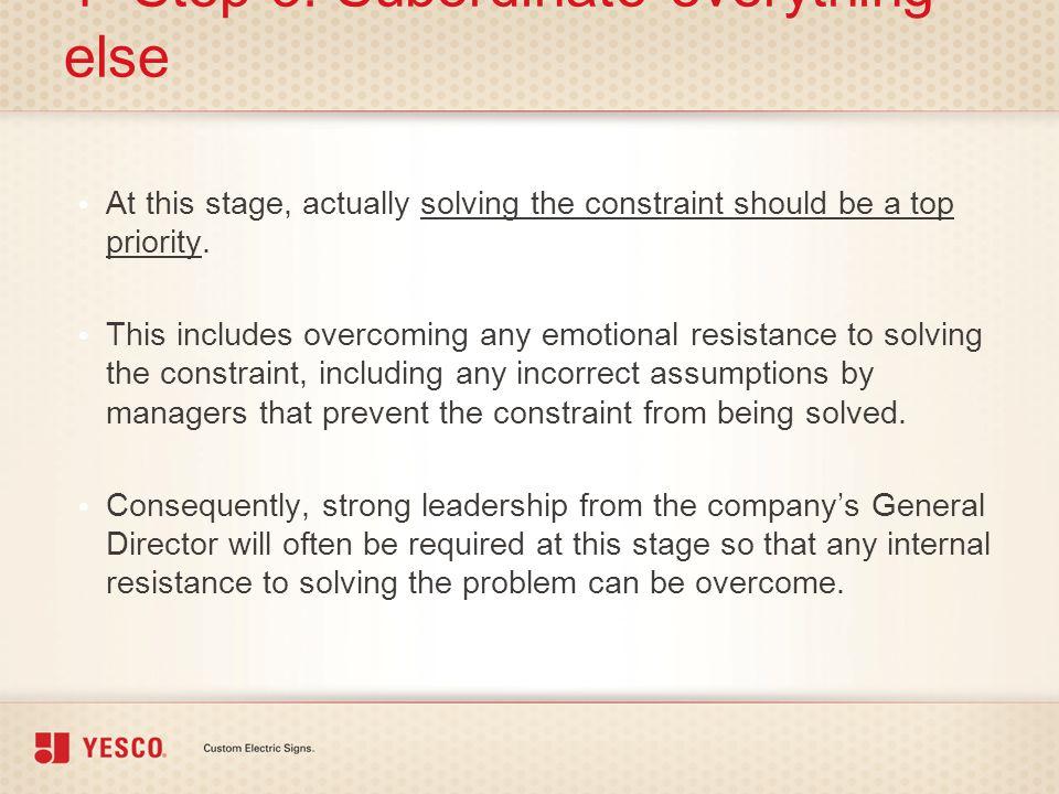 4- Step 3: Subordinate everything else