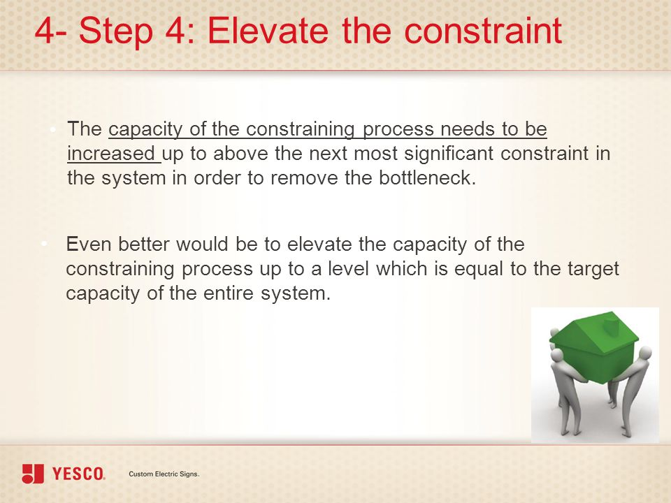 4- Step 4: Elevate the constraint