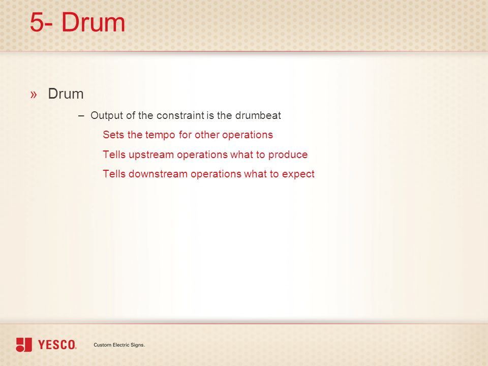 5- Drum Drum Output of the constraint is the drumbeat