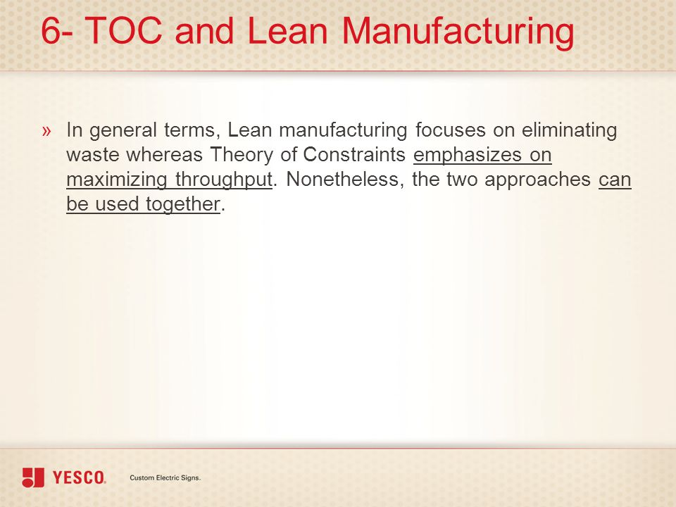 6- TOC and Lean Manufacturing