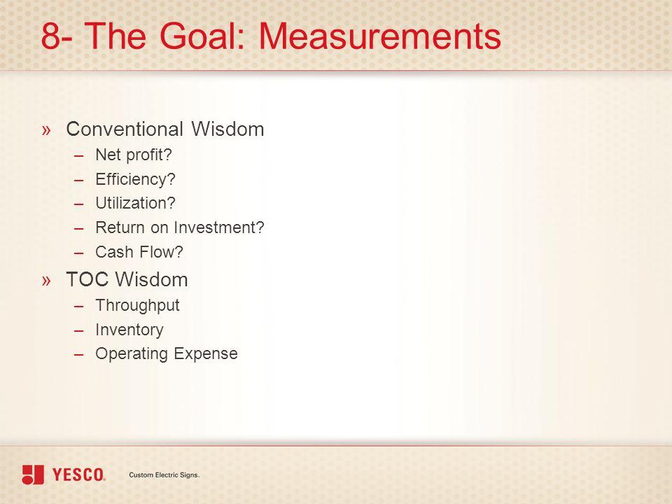 8- The Goal: Measurements