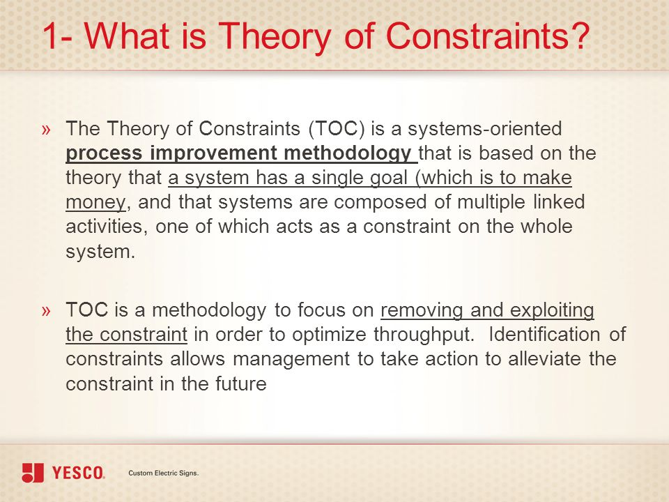 1- What is Theory of Constraints