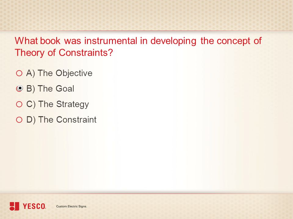 What book was instrumental in developing the concept of Theory of Constraints