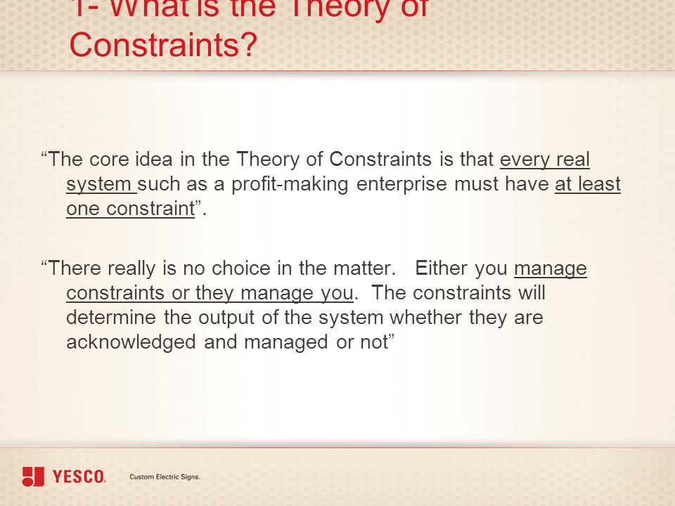 1- What is the Theory of Constraints