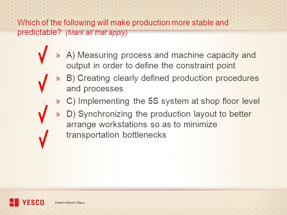 B) Creating clearly defined production procedures and processes
