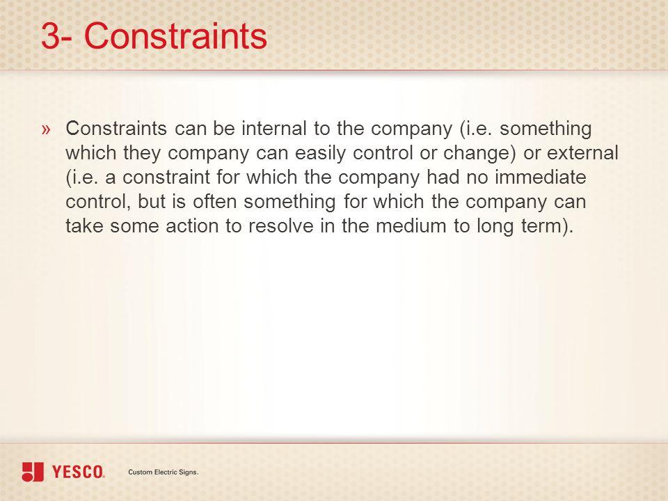 3- Constraints