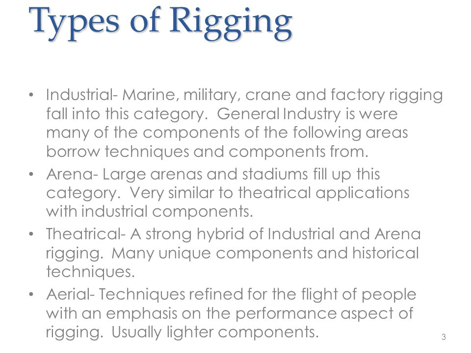Types of Rigging