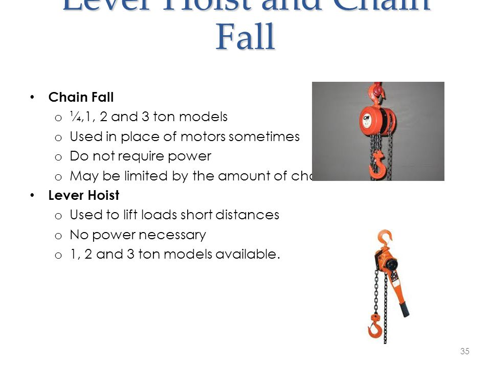 Lever Hoist and Chain Fall