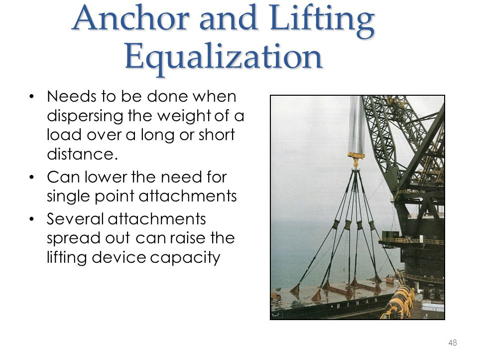 Anchor and Lifting Equalization