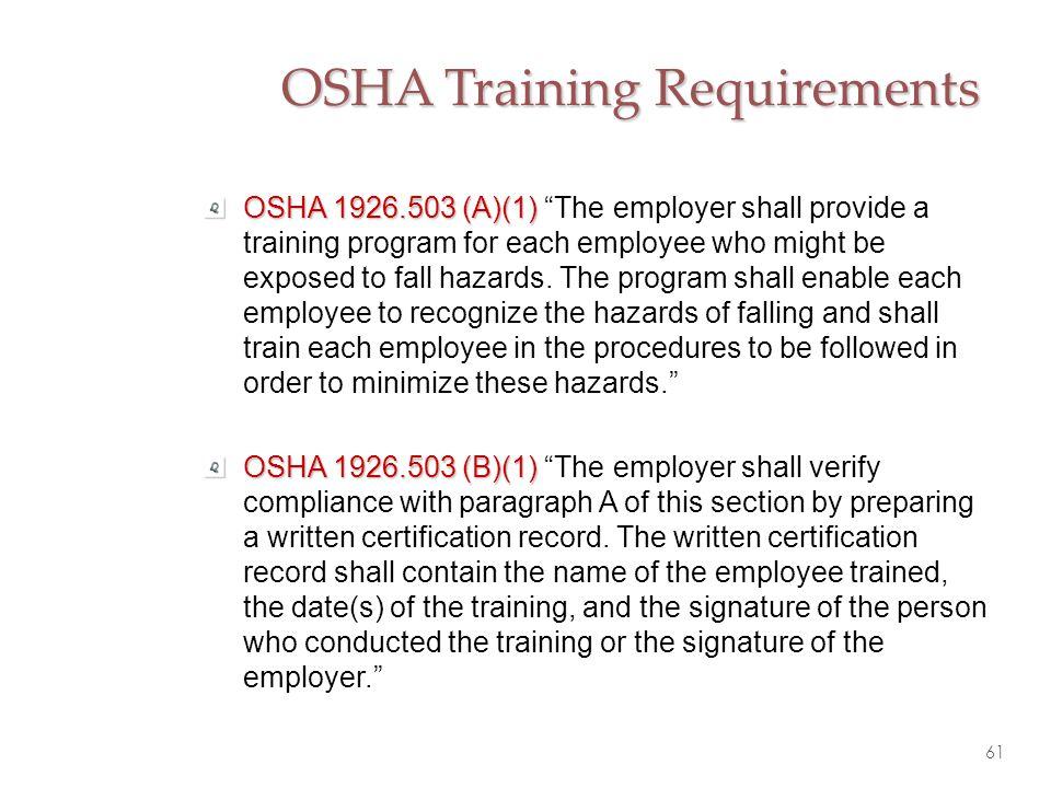 OSHA Training Requirements
