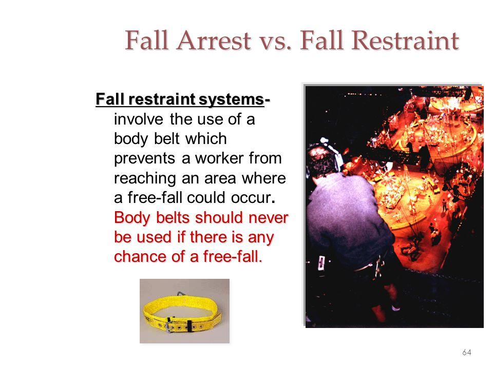Fall Arrest vs. Fall Restraint