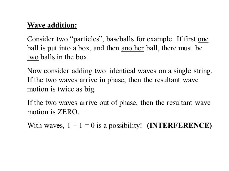Wave addition: