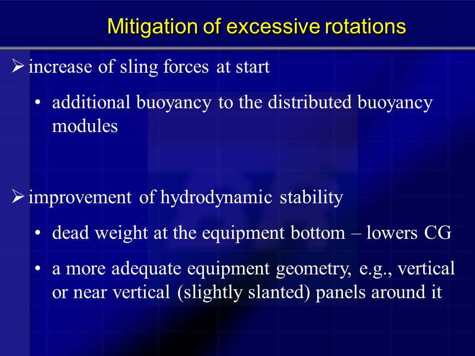 Mitigation of excessive rotations