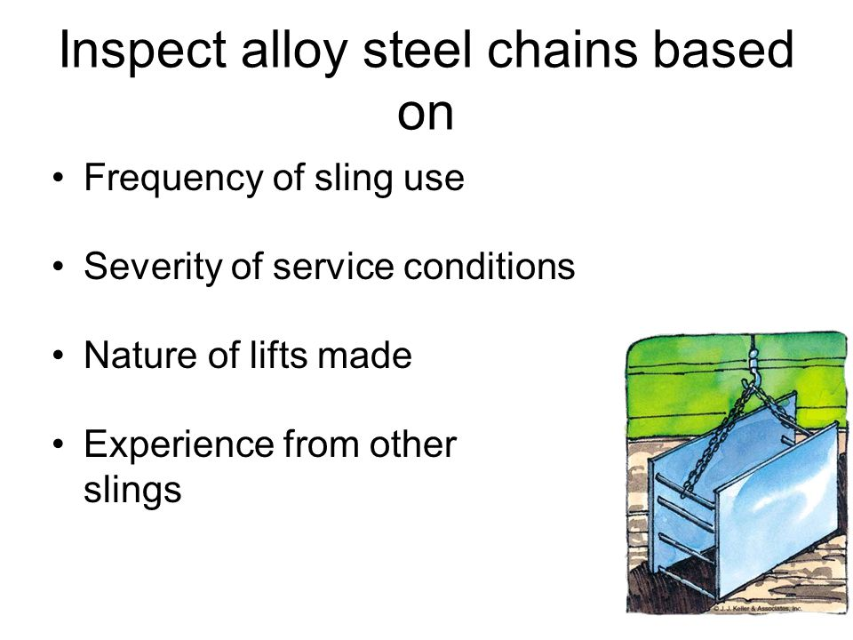 Inspect alloy steel chains based on