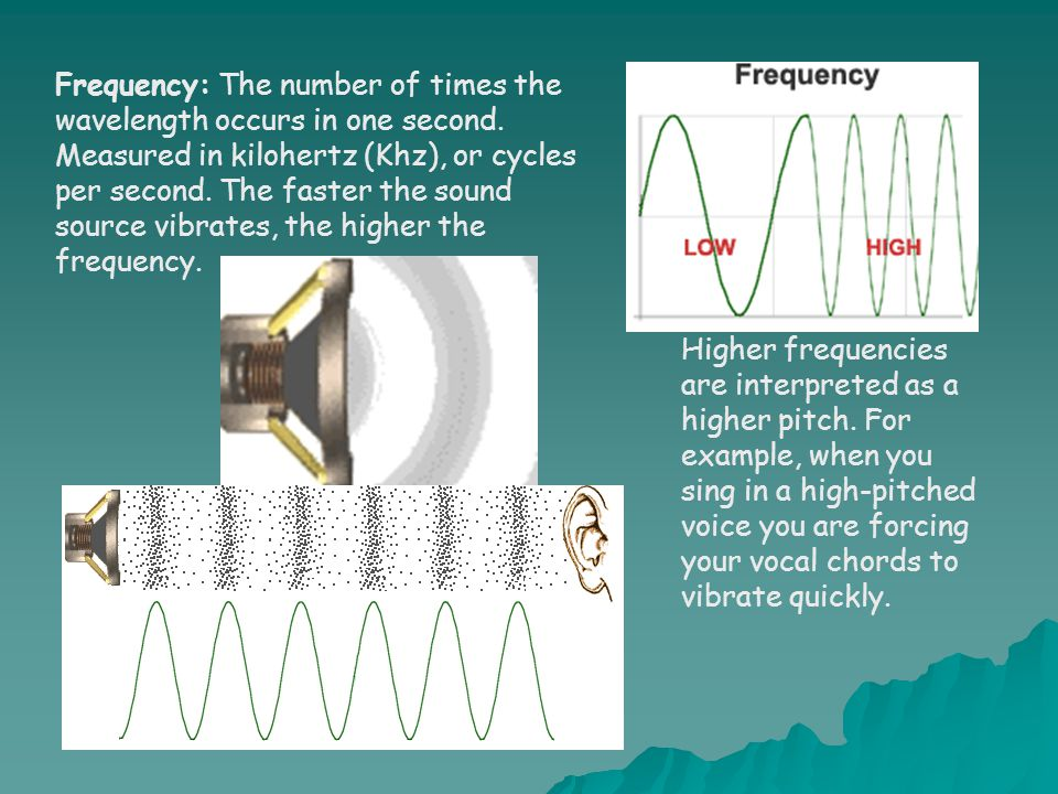 Frequency: The number of times the wavelength occurs in one second