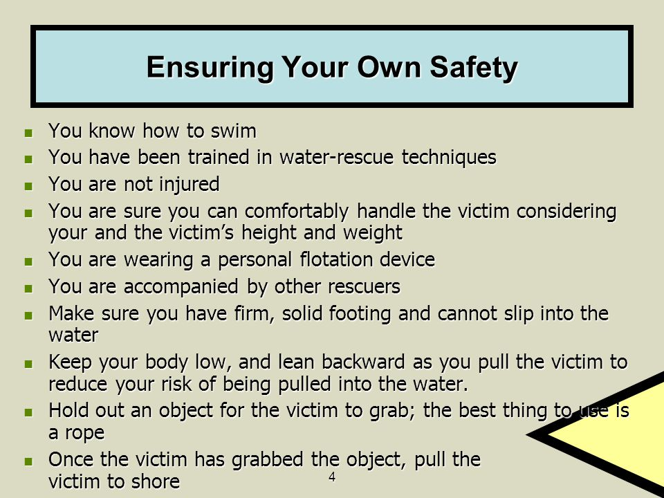 Ensuring Your Own Safety