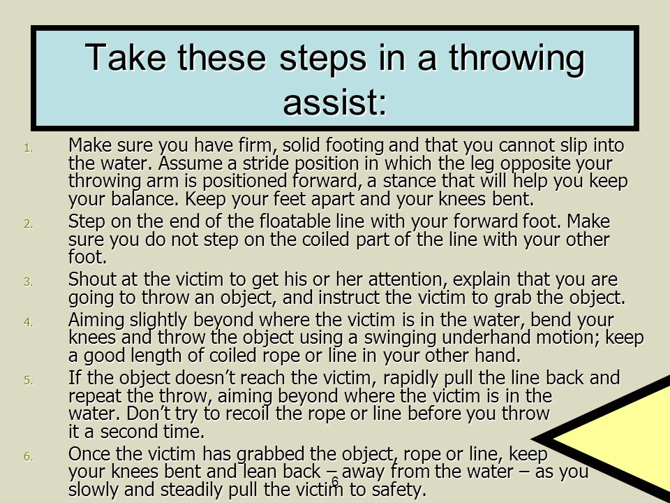 Take these steps in a throwing assist: