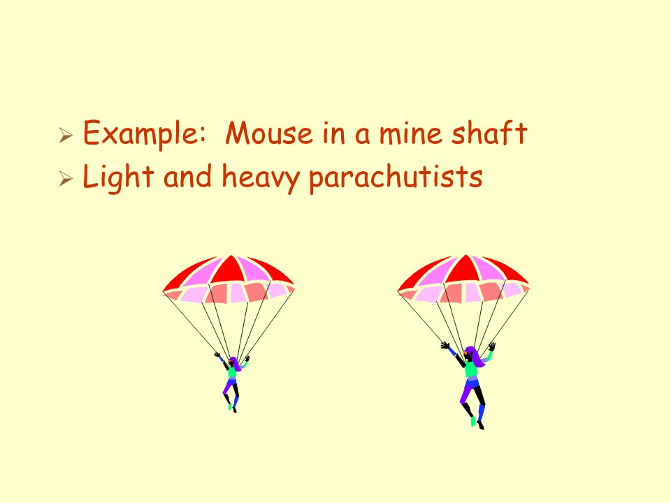 Example: Mouse in a mine shaft