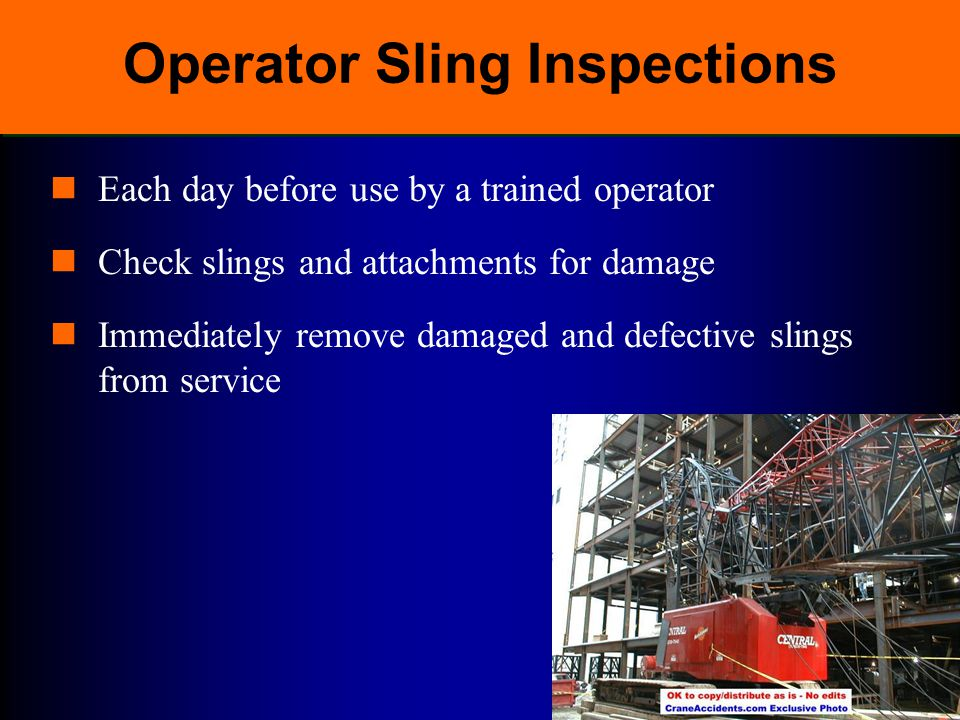 Operator Sling Inspections