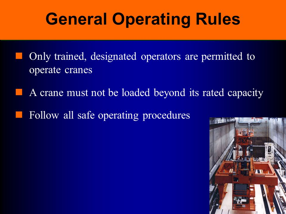 General Operating Rules