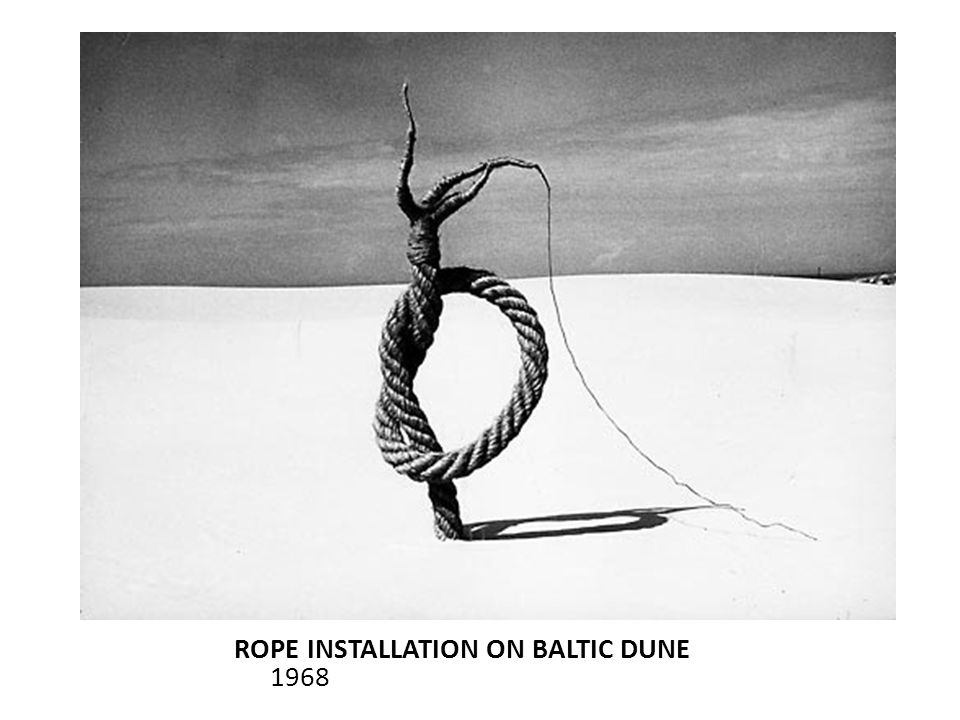 ROPE INSTALLATION ON BALTIC DUNE 1968