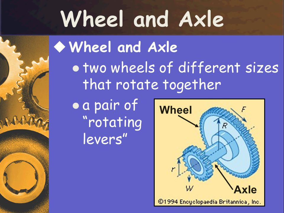 Wheel and Axle Wheel and Axle