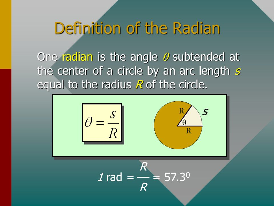 Definition of the Radian