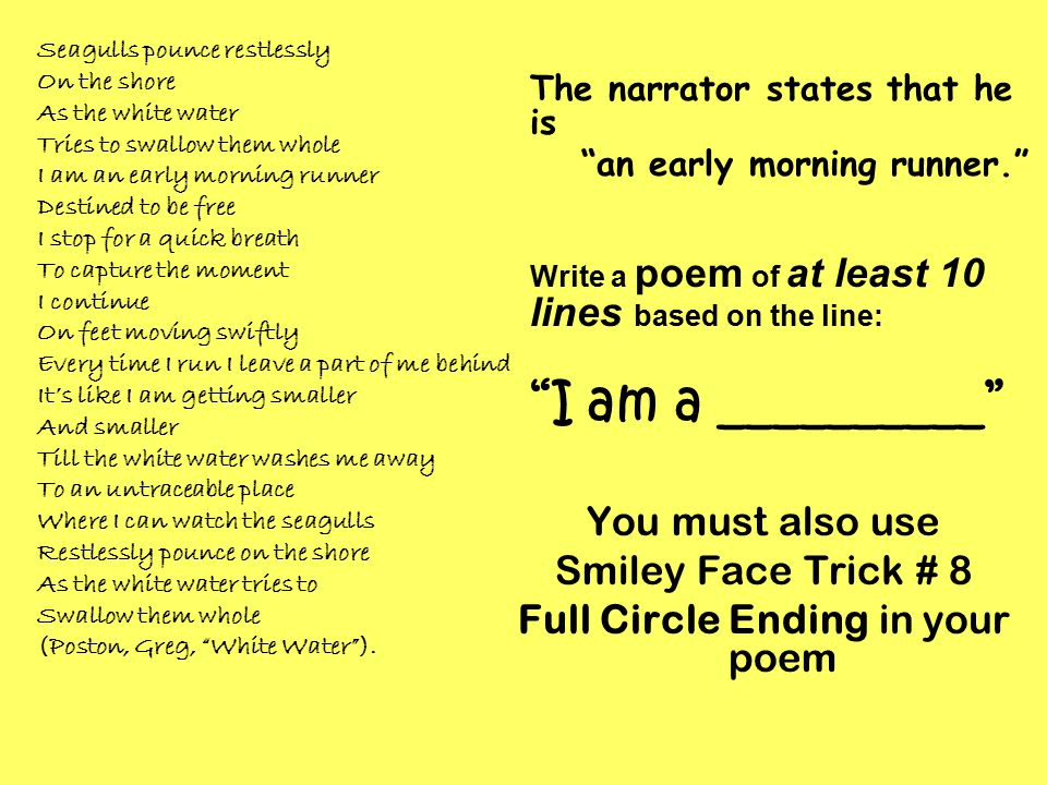 Full Circle Ending in your poem