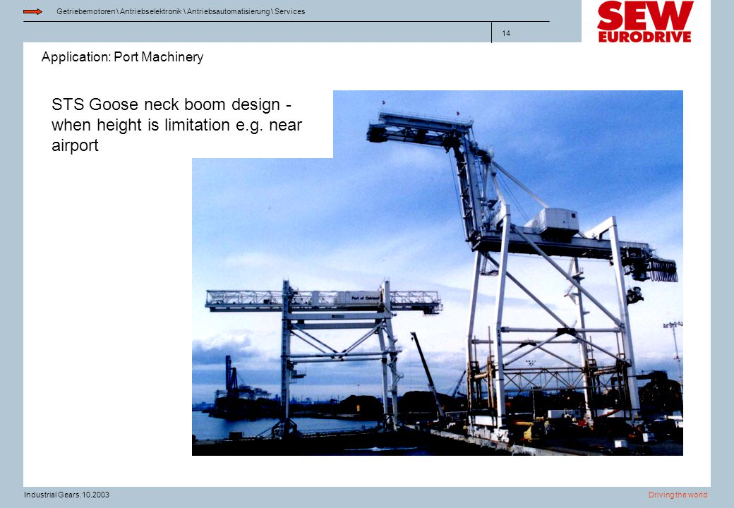 STS Goose neck boom design - when height is limitation e. g