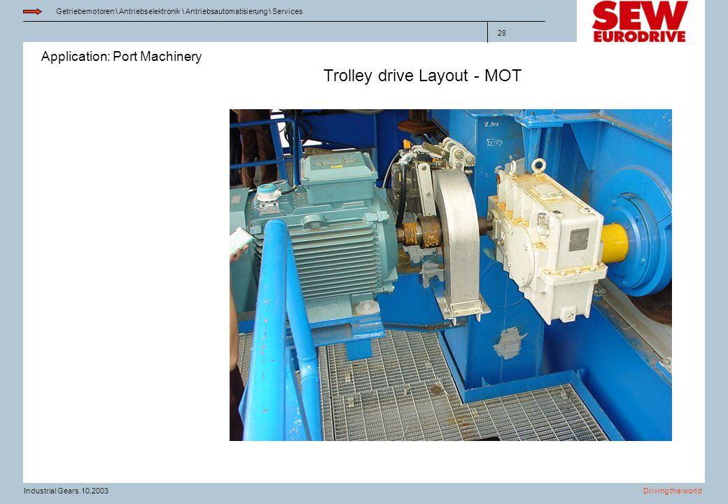 Trolley drive Layout - MOT