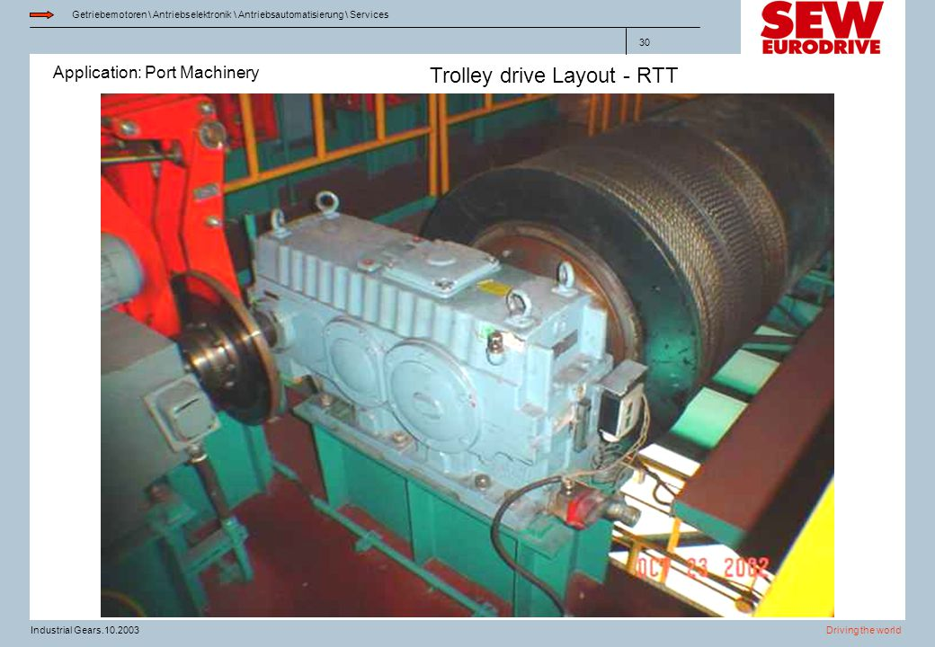 Trolley drive Layout - RTT