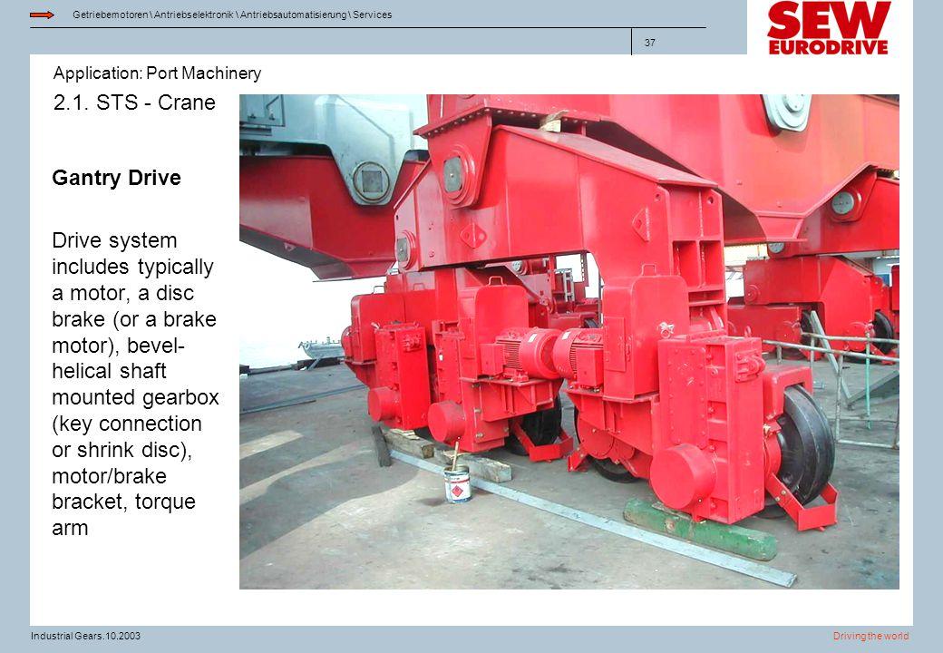 2.1. STS - Crane Gantry Drive.