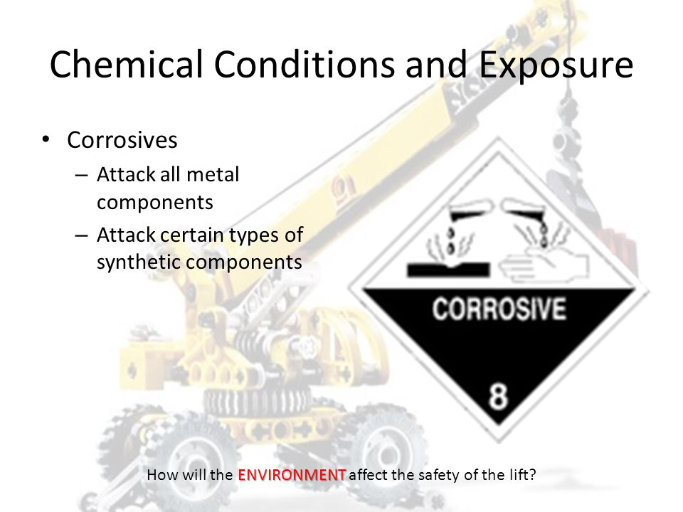 Chemical Conditions and Exposure