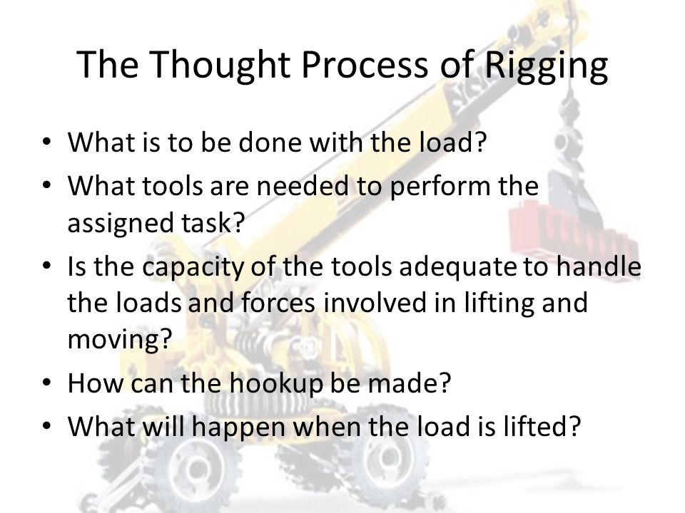 The Thought Process of Rigging